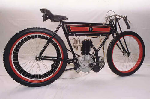 Our late Secretary Ian Corlett's 1912 TT racer.