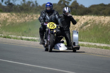 Graham Rowley and passenger - Tailem Bend. Photo – Nick Clarke